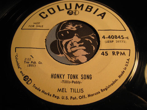 Mel Tillis - Honky Tonk Song b/w It Takes A Worried Man To Sing A Worried Blues - Columbia #40845 - Country - Rockabilly