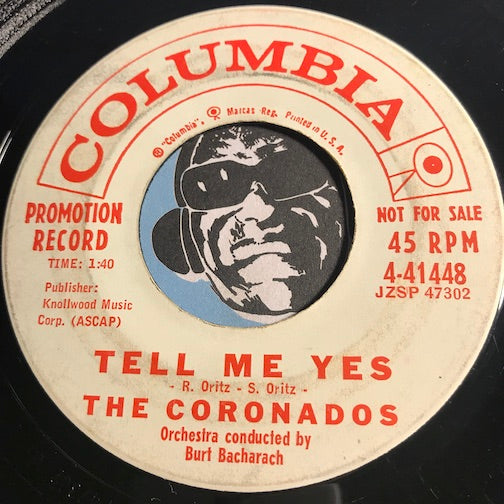 Coronados - Tell Me Yes b/w Little Moon - Columbia #41448 - Doowop - Popcorn Soul