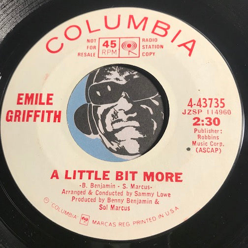 Emile Griffith - A Little Bit More b/w Always On My Mind - Columbia #43735 - Northern Soul