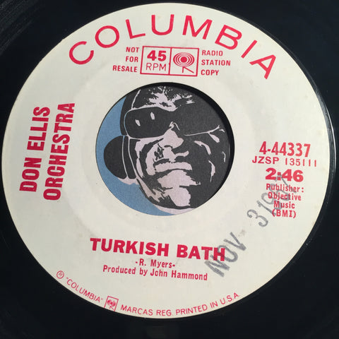 Don Ellis Orchestra - Turkish Bath b/w Indian Lady - Columbia #44337 - Jazz Mod - Popcorn Soul