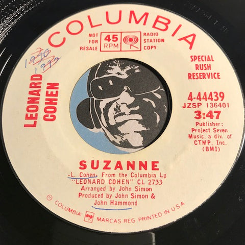 Leonard Cohen - Hey That's No Way To Say Goodbye b/w Suzanne - Columbia #44439 - Rock n Roll