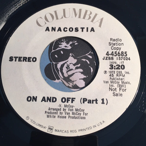 Anacostia - On and Off pt.1 b/w same - Columbia #45685 - Sweet Soul