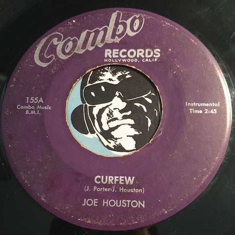 Joe Houston - Curfew b/w Cha Cha All Nite Long - Combo #155 - R&B - R&B Instrumental