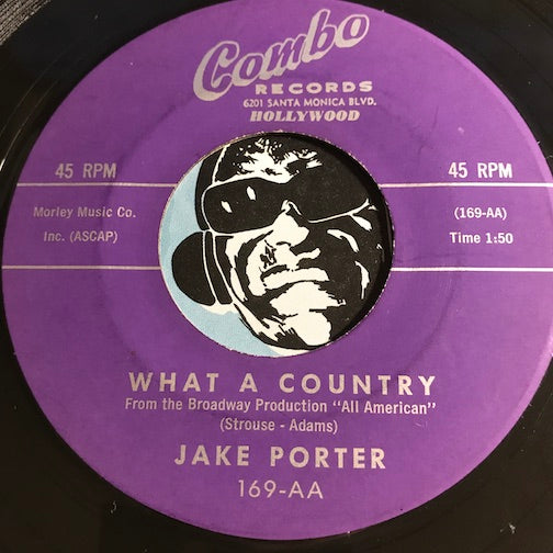 Jake Porter - Once Upon A Time b/w What A Country - Combo #169 - Jazz
