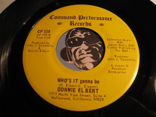 Donnie Elbert - Who's It Gonna Be b/w Your Red Wagon - Command Performance #110 - Sweet Soul - Northern Soul