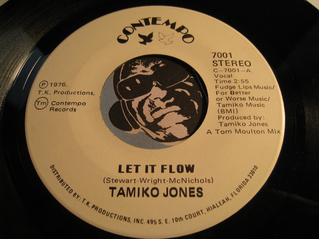 Tamiko Jones - Let It Flow b/w instrumental - Contempo #7001 - Northern Soul