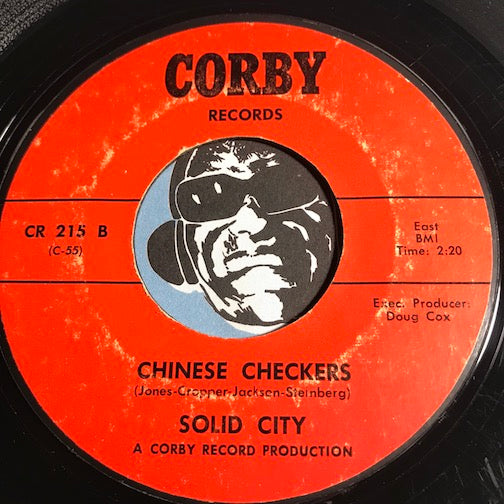 Solid City - Chinese Checkers b/w Fat Mama - Corby #215 - Jazz Mod