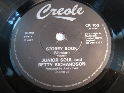 Junior Soul & Betty Richardson - Storey Book Children b/w Storey Book - Creole #103 - Reggae