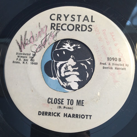 Derrick Harriott - The Wedding Song b/w Close To Me - Crystal #1090 - Reggae