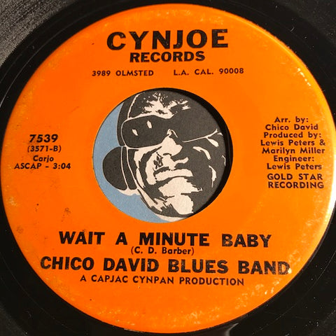 Chico David Blues Band - Wait A Minute Baby b/w Big Legged Woman - Cynjoe #7537 - Blues - Funk