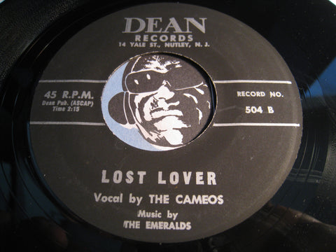 Cameos - Lost Lover b/w Wait Up (reissue) - Dean #504 - Doowop