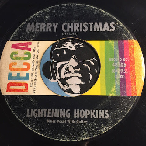 Lightening Hopkins - Happy New Year b/w Merry Christmas - Decca #48306 - Blues - Christmas / Holiday