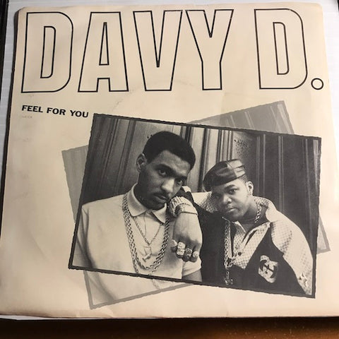 Davy D - Feel For You b/w Davy's Ride - Def Jam #38 07420 - Rap