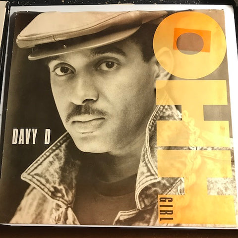 Davy D - Oh Girl b/w Clap Your Hands - Def Jam #38 07712 - Rap