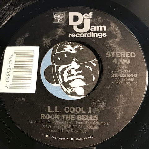 L.L. Cool J - Rock The Bells b/w El Shabazz - Def Jam #05840 - Rap