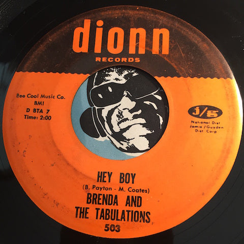 Brenda & Tabulations - Hey Boy b/w Just Once In A Lifetime - Dionn #503 - Northern Soul - Sweet Soul