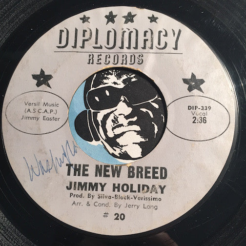 Jimmy Holiday - The New Breed b/w Love Me One More Time - Diplomacy #20 - R&B Soul