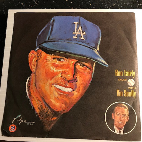 Vin Scully - Dodgers - Ron Fairly Talks with Vin Scully b/w Howie Reed Talks with Vin Scully - Dodger Record Library #6/39 - Novelty