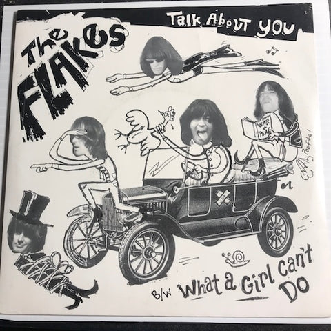 Flakes - Talk About You b/w What A Girl Can't Do - Dollar Records #002 - Rock n Roll - Garage Rock - 80's / 90's / 2000's