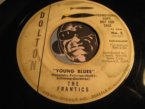 Frantics - Straight Flush b/w Young Blues - Dolton #2 - Surf
