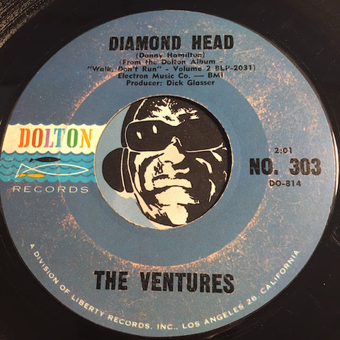 Ventures - Diamond Head b/w Lonely Girl - Dolton #303 - Surf