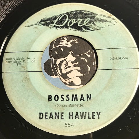 Deane Hawley - Bossman b/w Look For A Star - Dore #554 - Rockabilly - R&B Rocker
