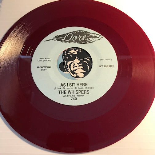 Whispers - As I Sit Here b/w The Story Book Of Love - Dore #740 - Sweet Soul - Colored Vinyl