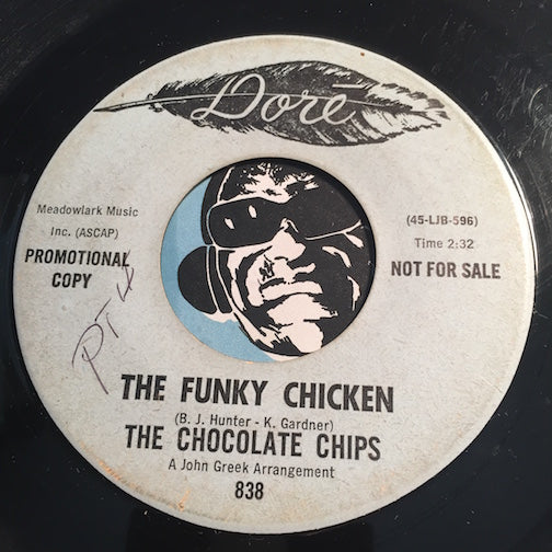 Chocolate Chips - The Funky Chicken b/w same - Dore #838 - Northern Soul