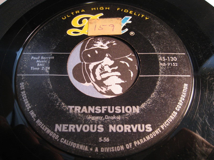 Nervous Norvus - Transfusion b/w Dig - Dot #130 - Rock n Roll