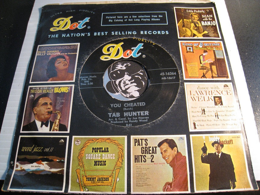 Tab Hunter - You Cheated b/w The Way You Look Tonight - Dot #16264 - R&B