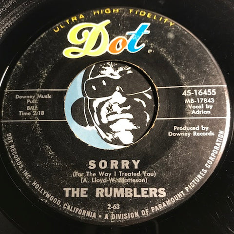 Rumblers - Boss Strikes Back b/w Sorry (For All The Way I Treated You) - Dot #16455 - Surf - Garage Rock