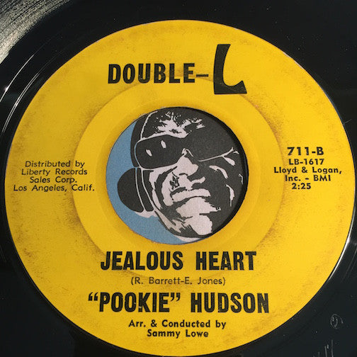 Pookie Hudson - Jealous Heart b/w I Know I Know - Double L #711 - Northern Soul