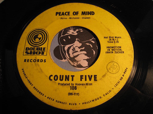 Count Five - Peace Of Mind b/w The Morning After - Double Shot #106 - Garage Rock