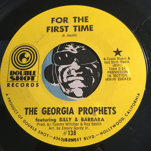 Georgia Prophets - For The First Time b/w Loving You Is Killing Me - Double Shot #138 - Psych Rock - Soul