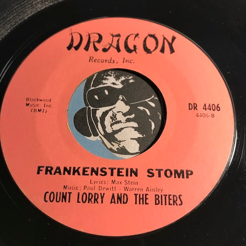 Count Lorry & Biters - Frankenstein Stomp b/w Groovin With Drag - Dragon #4406 - Rock n Roll - Christmas/Holiday