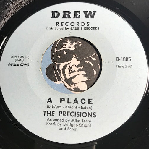 Precisions - A Place b/w Never Let Her Go - Drew #1005 - Northern Soul