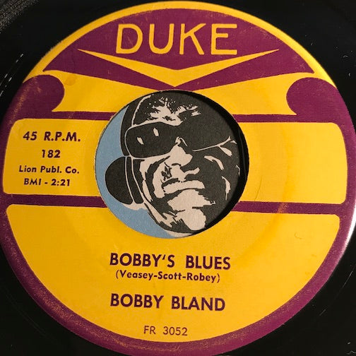 Bobby Bland - Bobby's Blues b/w Teach Me (How To Love You) - Duke #182 - Blues