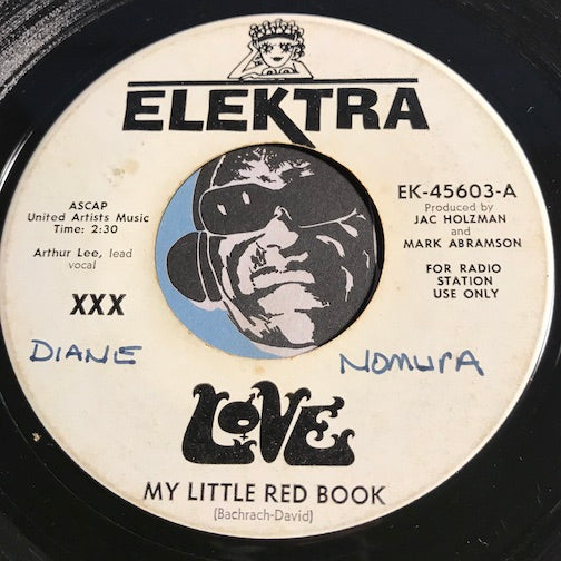 Love - My Little Red Book b/w A Message To Pretty - Elektra #45603 - Psych Rock