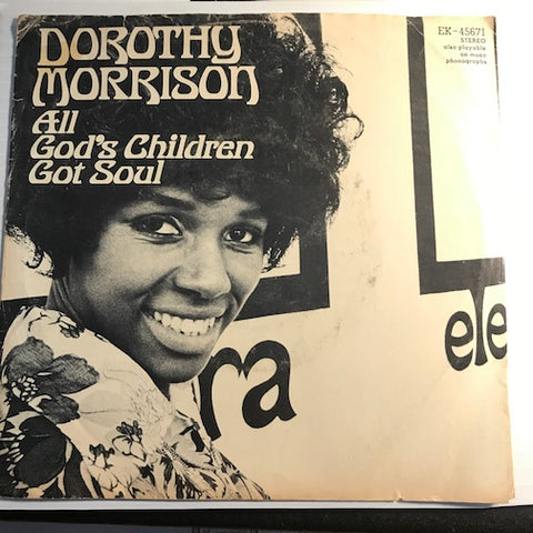 Dorothy Morrison - All God's Children Got Soul b/w Put A Little Love In Your Heart - Elektra #45671 - Gospel Soul - Funk