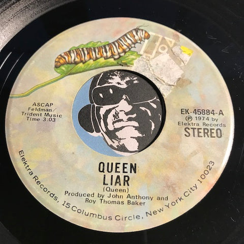 Queen - Liar b/w Doing All Right - Elektra #45884 - Rock n Roll