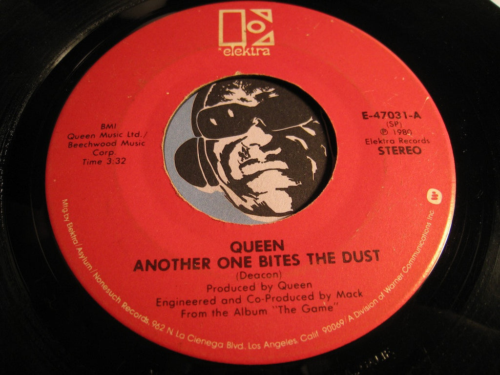 Queen - Another One Bites The Dust b/w Don't Try Suicide - Elektra #47031 - Rock n Roll