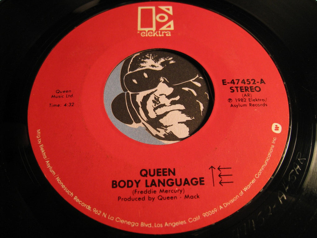 Queen - Life Is Real (Song For Lennon) b/w Body Language - Elektra #47452 - Rock n Roll