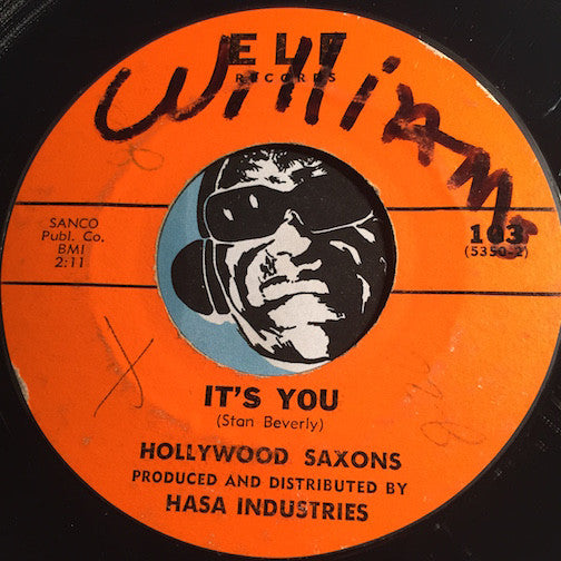Hollywood Saxons - It's You b/w I'm Your Man - Elf #103 - Doowop