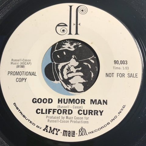 Clifford Curry - Good Humor Man b/w You Turned Out The Light – Elf #90003 - R&B Soul