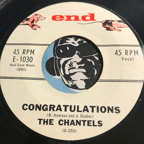Chantels - Congratulations b/w If You Try - End #1030 - Doowop - Girl Group