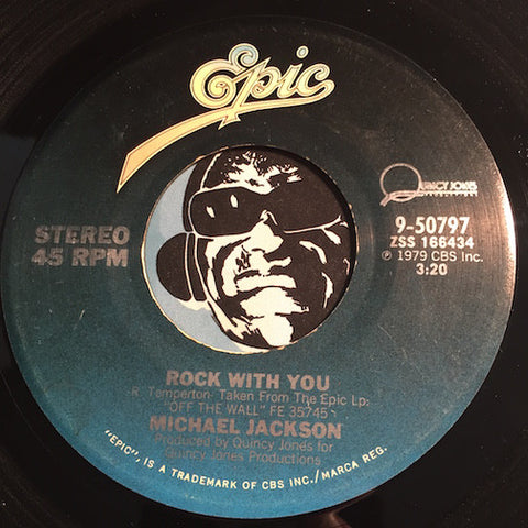 Michael Jackson - Rock With You b/w Working Day And Night - Epic #50797 - 80's