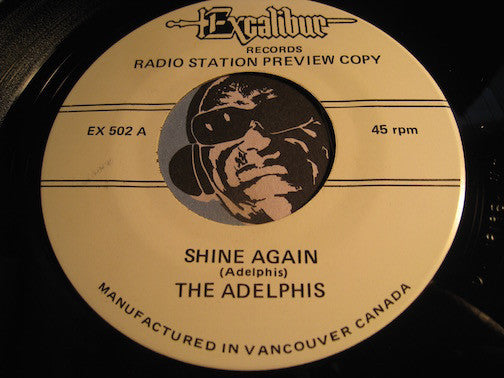 Adelphis / Stereos - Shine Again (Adelphis) b/w Sweetpeas In Love (Stereos)  reissue - Excalibur #5002 - Doowop