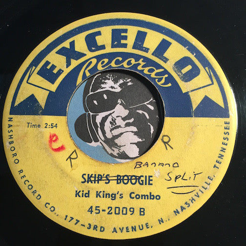Kid King's Combo - Skip's Boogie b/w Banana Split - Excello #2009 - R&B Instrumental
