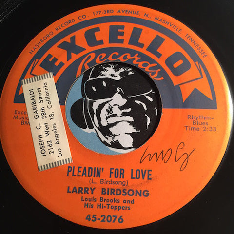 Larry Birdsong - Pleadin For Love b/w You'll Never Never Know - Excello #2076 - Blues