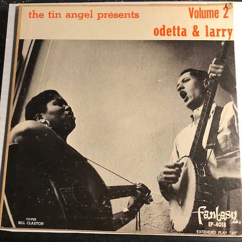 Odetta & Larry - Volume 2 EP - Payday At Coal Creek - No More Cane Along The Brazos - The Tailor Boy b/w Water Boy - 10,000 Years Ago (The Tin Angel Brag) - Fantasy #4018 - Rock n Roll